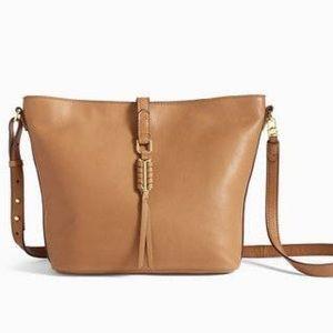Stella & Dot Tan Leather Crossbody Bag